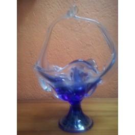 Canasta de cristal de murano